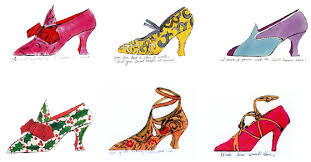 Andy Warhol Shoes - series of early and older works by infamous artist Andy Warhol. Some earlier work for his advertising days - and then works he revisited later for larger series.