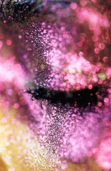 Marilyn Minter - art photography and paintings. Close up - glitter make up - saturated colors and tones. Fine art photography. Female Photographer.