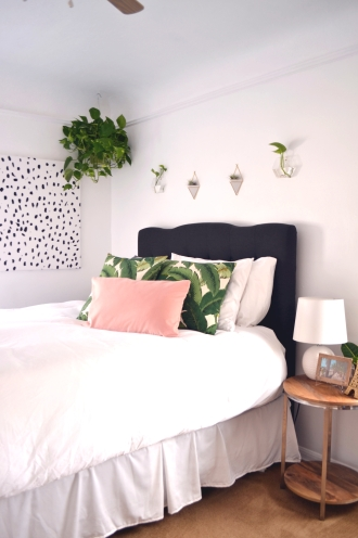 Master Bedroom Restyle by Interior Stylist Heather Knight-Willcock of CaliRose Lifestyle. Before and After of a classy, feminine Master Bedroom makeover