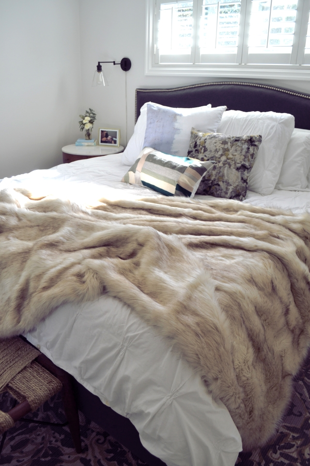 Southern California Design Consultant Heather Knight-Willcock of CaliRose Lifestyle - Before & After Master Bedroom Styling