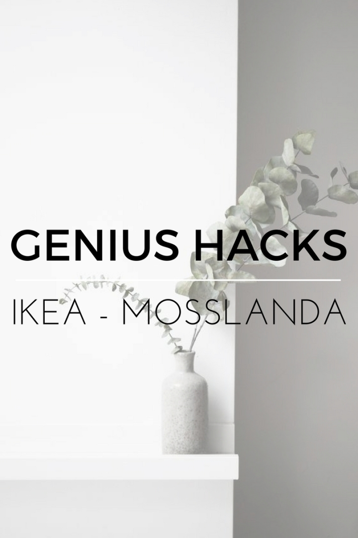 Genius Ikea Hacks for the Mosslanda Shelving system. Shelf styling and other great ideas for shelves. Furniture hacks from Ikea