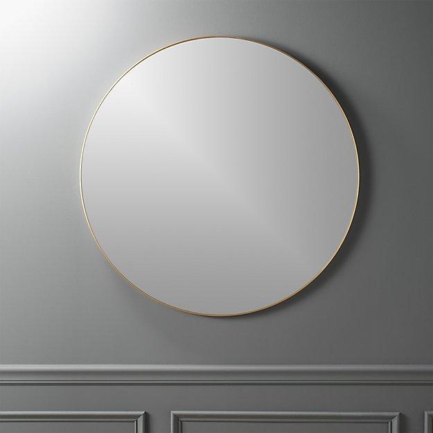 infinity-36-round-brass-wall-mirror cb2