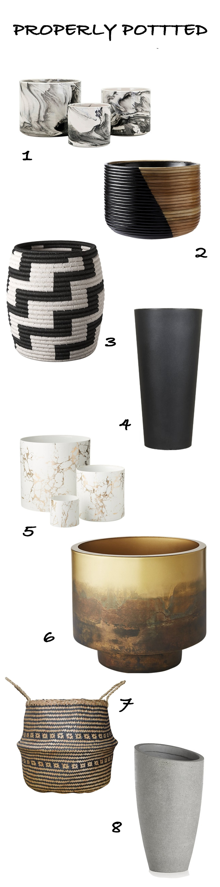 PLANT POT ROUNDUP FOR A MODERN BOHEMIAN HOME