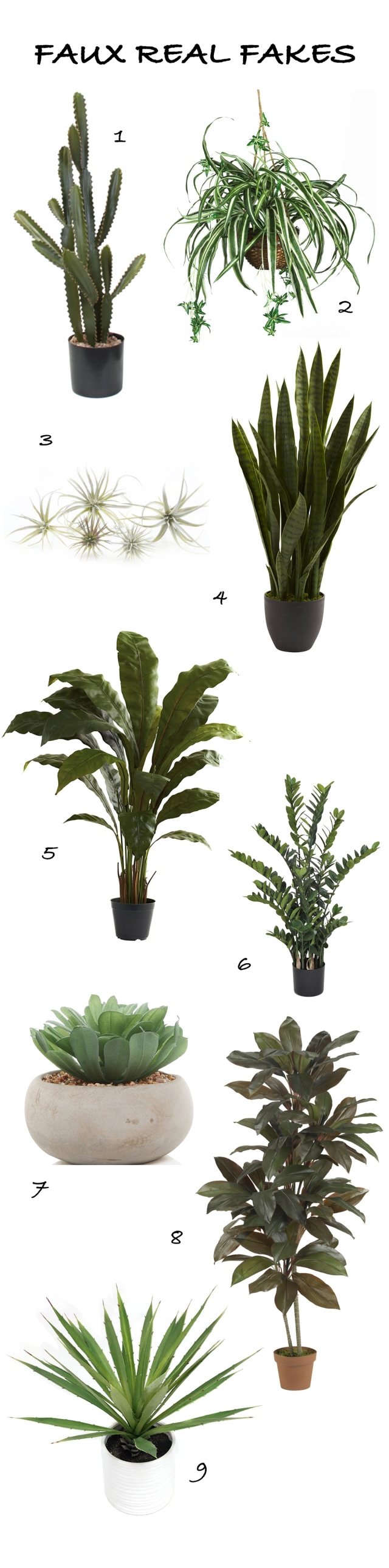 FAUX FAKE PLANTS FOR A MODERN BOHEMIAN HOME