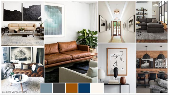 MASCULINE HOME - SVEN SOFA - bachelor pad - brick walls and dark furniture - design for men - modern design living room